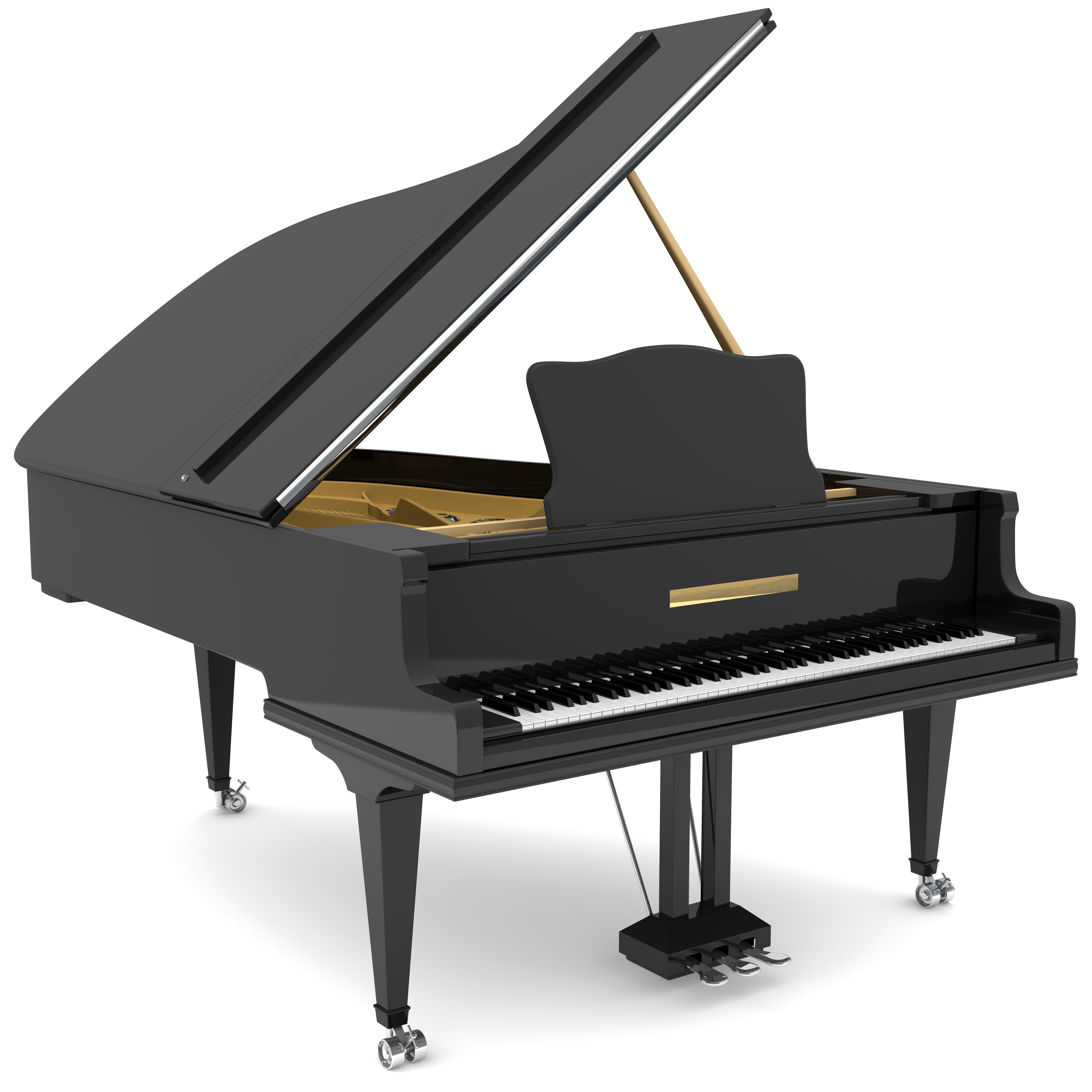 Czarny fortepian