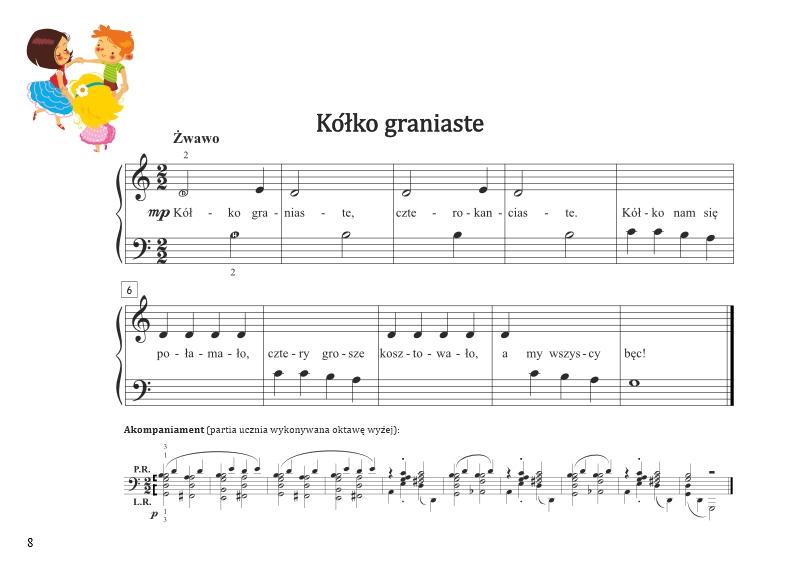 Unikalne Łatwe nuty na pianino dla dzieci   Moje pierwsze melodie RX28